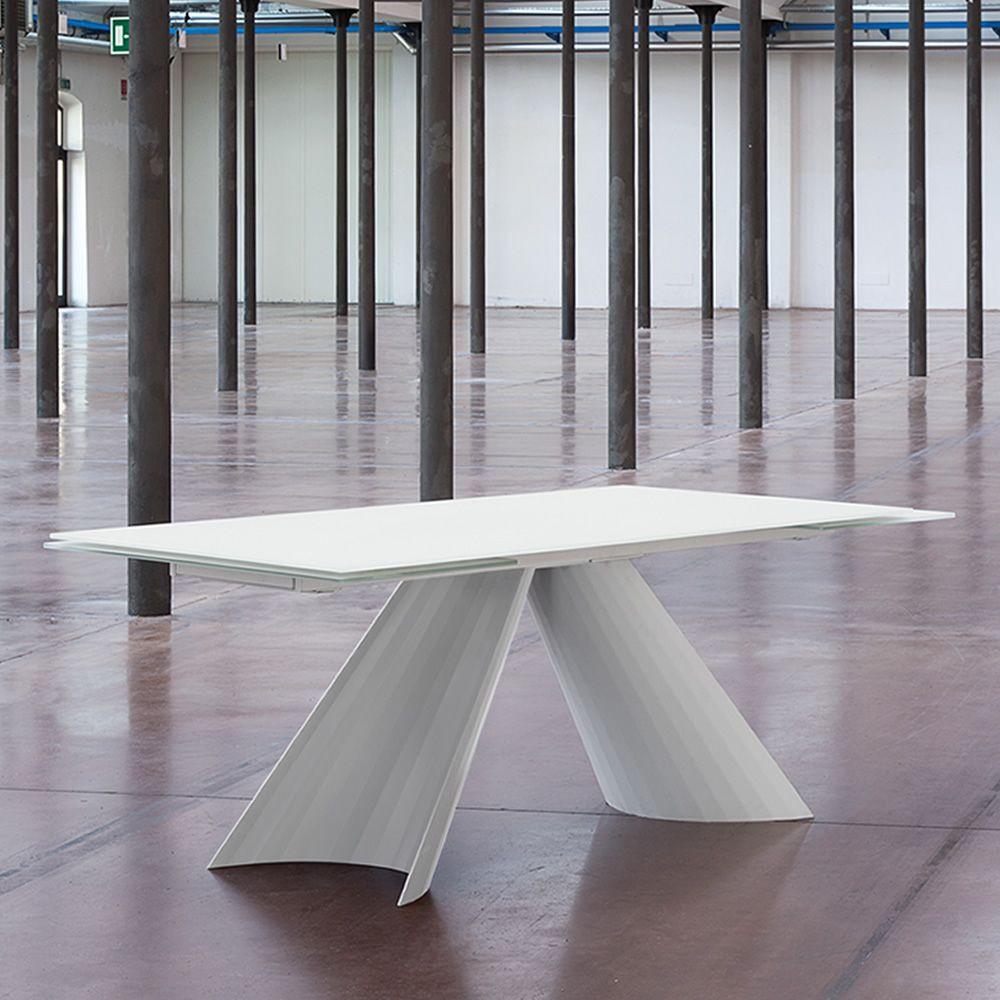 Tavolo Allungabile Laccato Bianco.Tuile A Table Domitalia