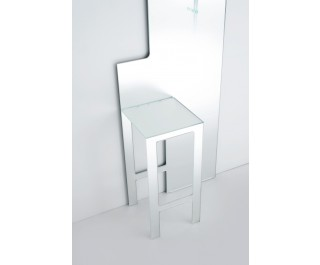 Mirror stool mirror by Glas Italia