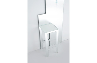Mirror stool mirror by Glas Italia