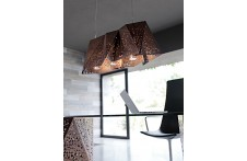 Plywood suspension lamp by Horm